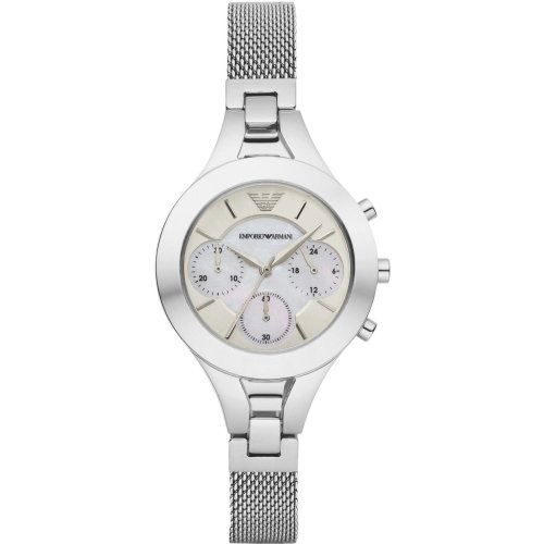 Emporio Armani Womens Ladies Chronograph Wrist Watch Stainless Steel AR7389