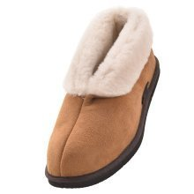 Ladies Sheepskin Ankle Slipper with EVA Sole