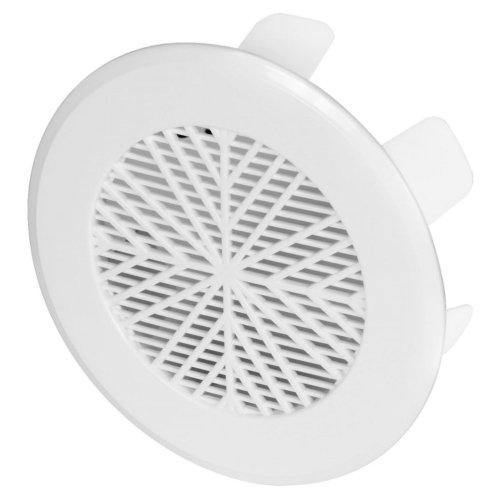 White Plastic Air Vent Custom Diameter Ventilation Ending Cap Grille