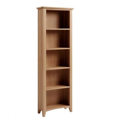 Exeter Light Oak Furniture Large Bookcase