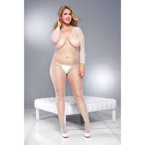 Crotchless bodystocking with long sleeves and open back  Ladies Lingerie XL - Body / Tights - Music Legs
