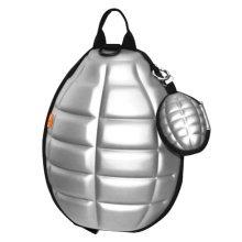 Creative Children Backpack Soft Shoulder Bag Fashion School Bag-Argent