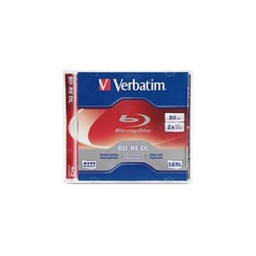 Verbatim/Smartdisk 97536 Blu-ray Rewritable Media - BD-RE DL - 2x - 50 GB - 1 Pack Jewel Case