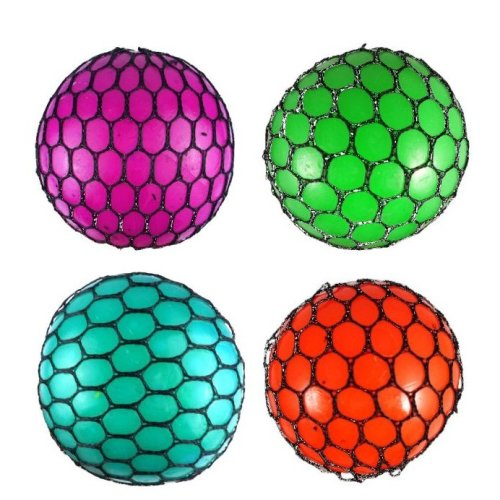 Coloured Squishy Mesh Ball | Squeeze Ball