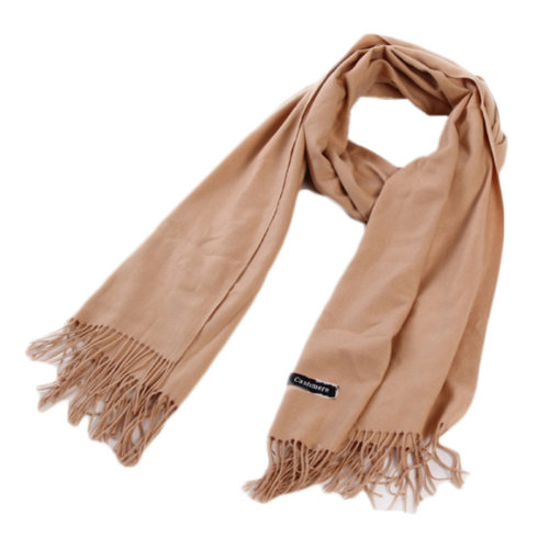 Stylish Cashmere Shawl Luxurious Pashm Tassel Soft Warm Scarf Khaki