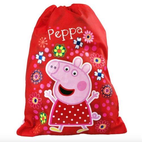 PEPPA PIG GIRLS 'TROPICAL PARADISE' TRAINER SPORTS DRAWSTRING CLOSURE PVC BAG