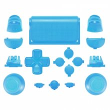 ZedLabz full replacement button set mod kit for 2nd gen Sony PS4 JDM-030 controllers - light blue