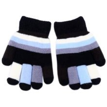 Lovely Mixed Color Double Layer Mittens Baby Hand Gloves, Black
