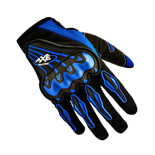 Bicycle/Motorcycle Riding Pro Gloves Motorcycle Cycling Full Gloves, Blue, XL