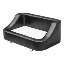 PawHut Pet Sofa Dog Puppy Bed PU Leather Chair Cushion Mat (64L × 52D × 44H cm)