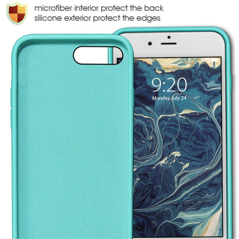 check out c9da8 e997f iPhone 8 Plus Silicone Case, iPhone 7 Plus silicone case, MILPROX Pretty  Series Liquid Silicone Gel Rubber Shockproof Case with Microfiber Cloth...