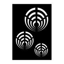 Psyche 4 Airbrush Adhesive Stencil -  psyche 4 airbrush adhesive stencil 70x 100mm symbol paint flexible