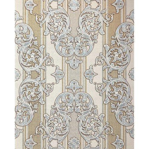 EDEM 580-30 Baroque-wallpaper metallic effect ivory gold 5.33 sqm (57 ft2)