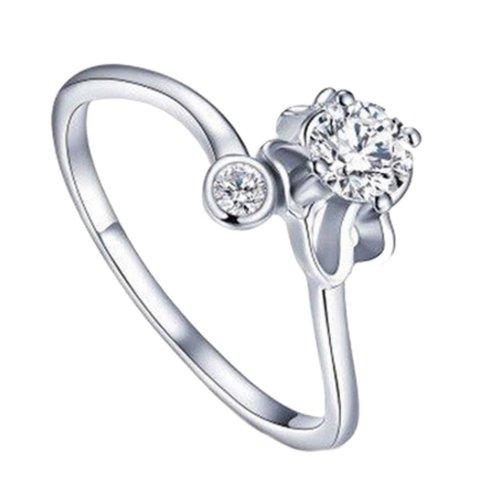 Silver Plated Star Sign Leo Ring Size P 1/2 (UK) Adjustable Open Zodiac Rhinestone Thumb Ladies Wrap
