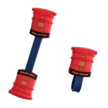 [Mailbox Red] 4pcs Earphone Cable Winder Wire Organizers Storage