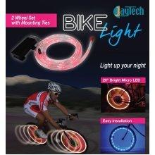 Bike Wheel Blue Lights 20 Inch Bright Micro LED Cycle Lighting