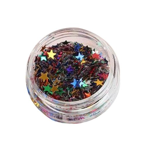 5 Boxes Makeup Glitter Sequins Shining Nail Art Sequins Face Glitter, Star