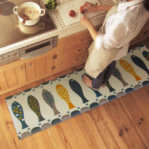 120x45cm Coral Velvet Floor Mat Absorbent Bath Rug Anti Slip Carpet