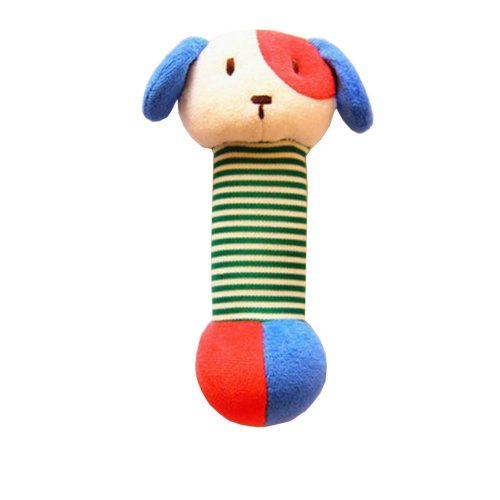 Infant Baby Kids Animal Soft Stuffed Plush Toy Rattle Lovely Dog