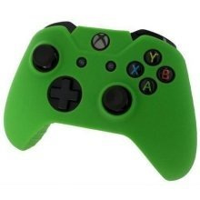 Pro Soft Silicone Controller Cover with Ribbed Handle Grip - Green - Xbox One
